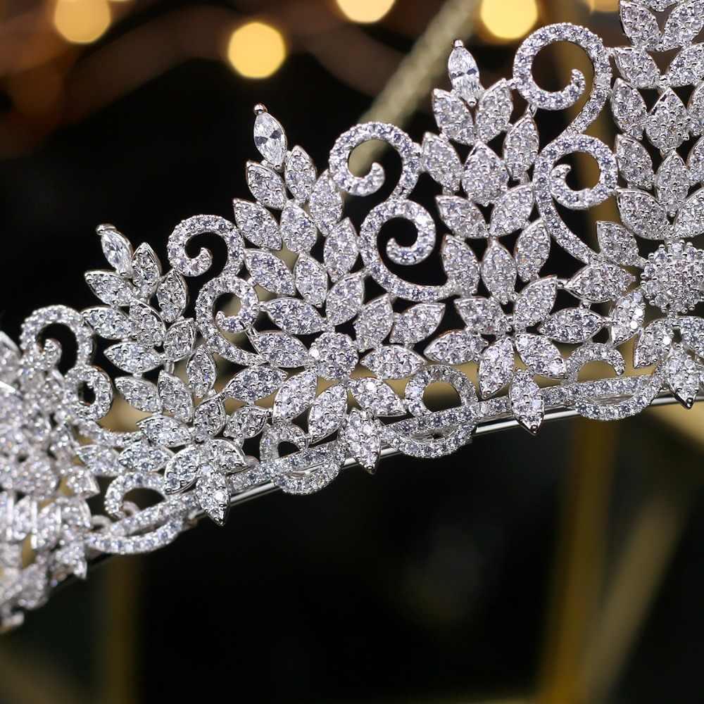 Изумительная королевская тиара старинный головной убор Свадебные короны свадебные украшения для волос Tocado Novia Свадебные аксессуары для волос