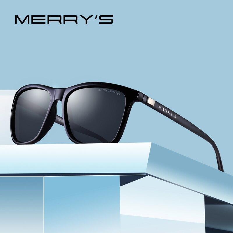 MERRYS Unisex Retro de aluminio de gafas de sol polarizadas lente Vintage gafas de sol para hombres/mujeres S8286