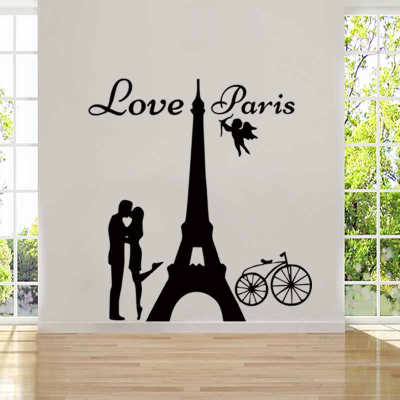 ̿̿̿ ̪ Angels Love Paris Wall ᗔ Sticker Sticker Vinyl