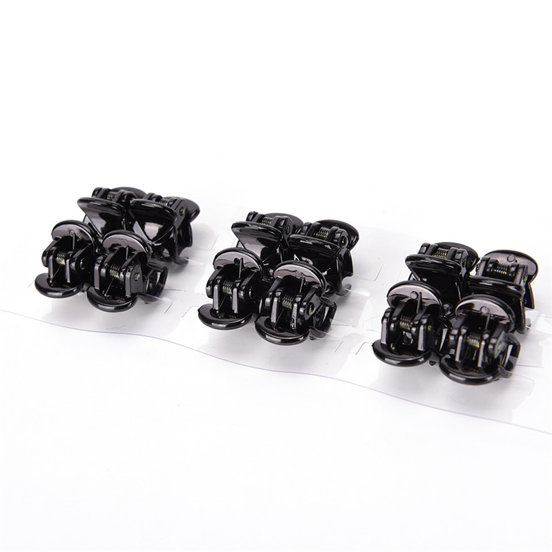 HOT 12pcs Black 6 Claws Fashion Women Girls Plastic Mini Hairpin Hair Clip Clamp