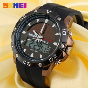Image 3 - New Energy Solar Watch Men Digital Sports LED Men Watches Solar Dual Display Watches Men Watch Sports Military Wriswatch Relojes