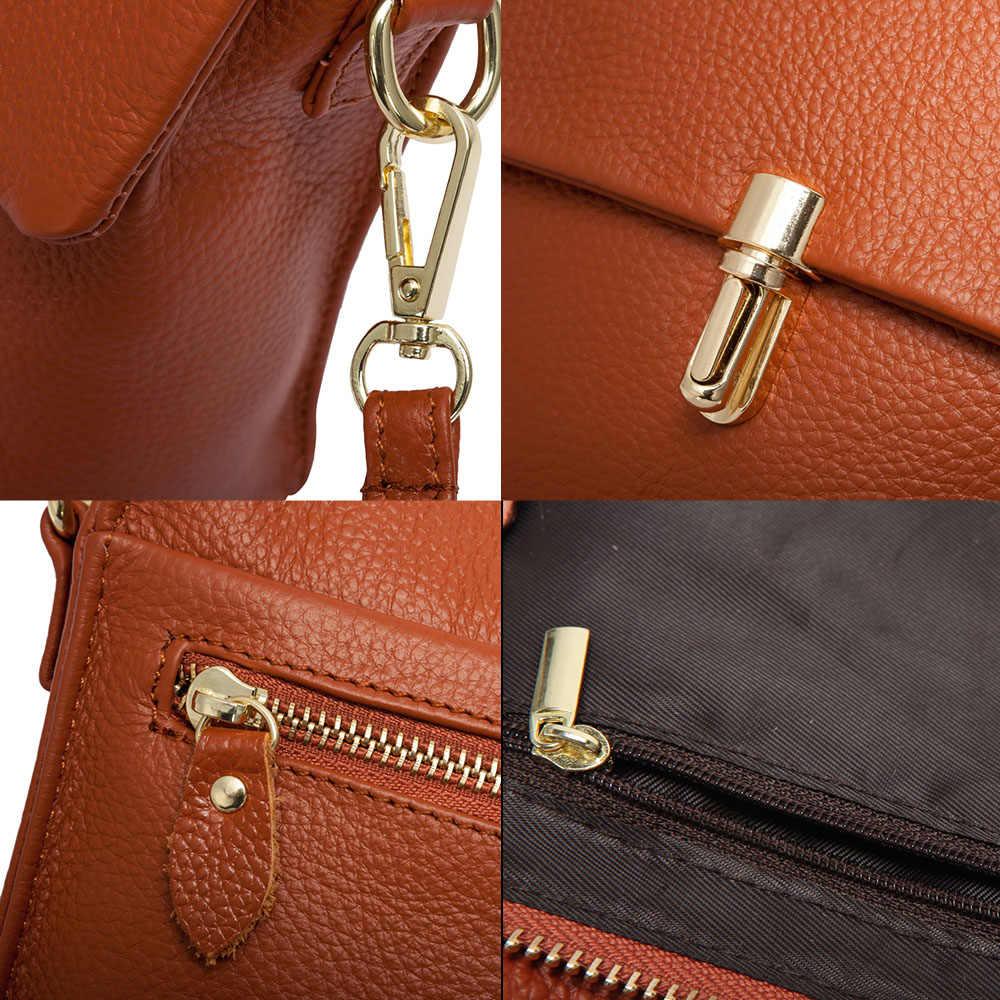 Zency 100% Real Couro Moda Mulheres Messenger Bag Bolsa de Telefone Prático da Menina Pequena Aba Sacos de Senhora Bolsa de Ombro Crossbody
