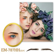 Neitsi Woman One Pair Fake Eyebrows 100% Human Hair Handtied Invisible Lace Fake Eyebrows EM-787HH-3# цены онлайн