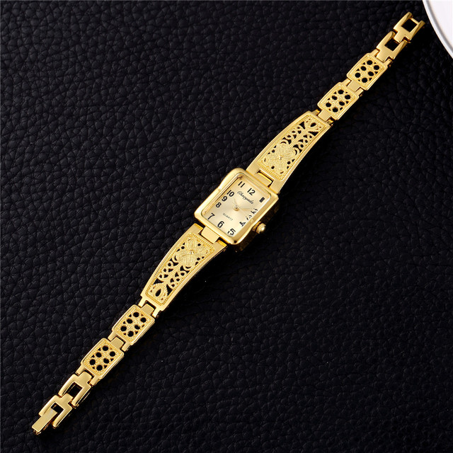 2018 Luxury Small Golden Stainless Steel Ladies Bracelet Watches Women Fashion W