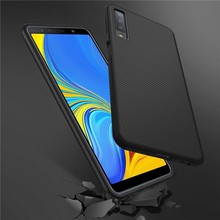 For Phone Samsung A7 2018 Case Le-Shen II Shockproof Soft TPU Carbon Fiber Brushed Back Cover sFor Samsung Galaxy A7 2018 Case for samsung galaxy a7 2018 fitted shockproof back cover anti skid anti fingerprint silicone soft black tpu phone case