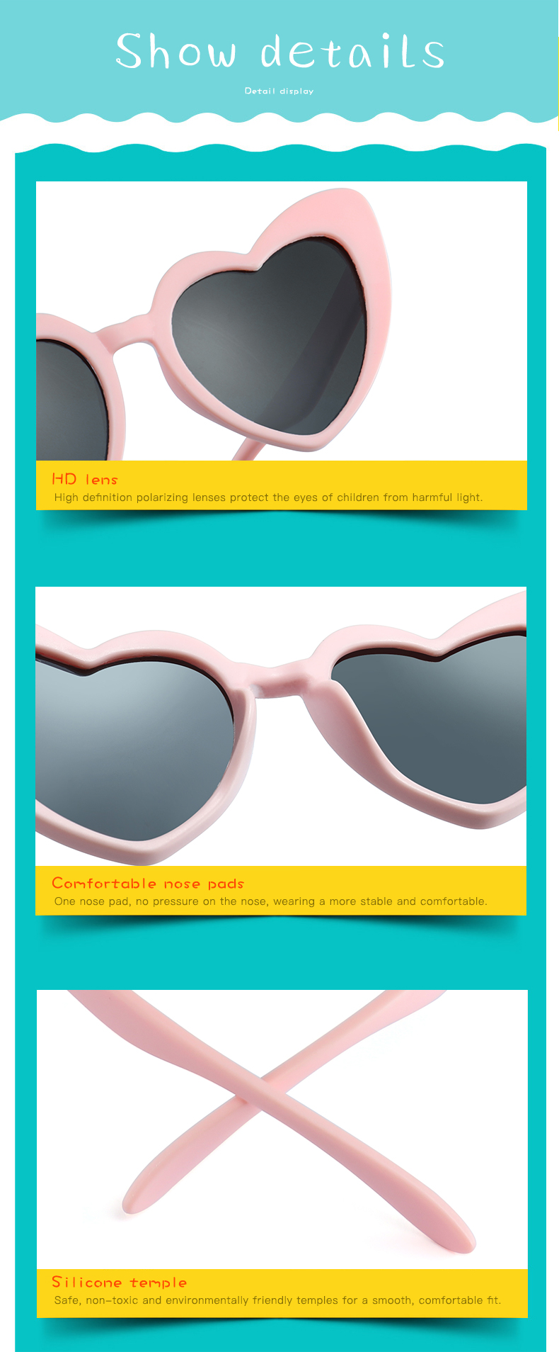 HTB11BjdacfrK1RjSszcq6xGGFXa1 - LongKeeper baby girl sunglasses for children heart TR90 black pink red heart sun glasses for kids polarized flexible uv400