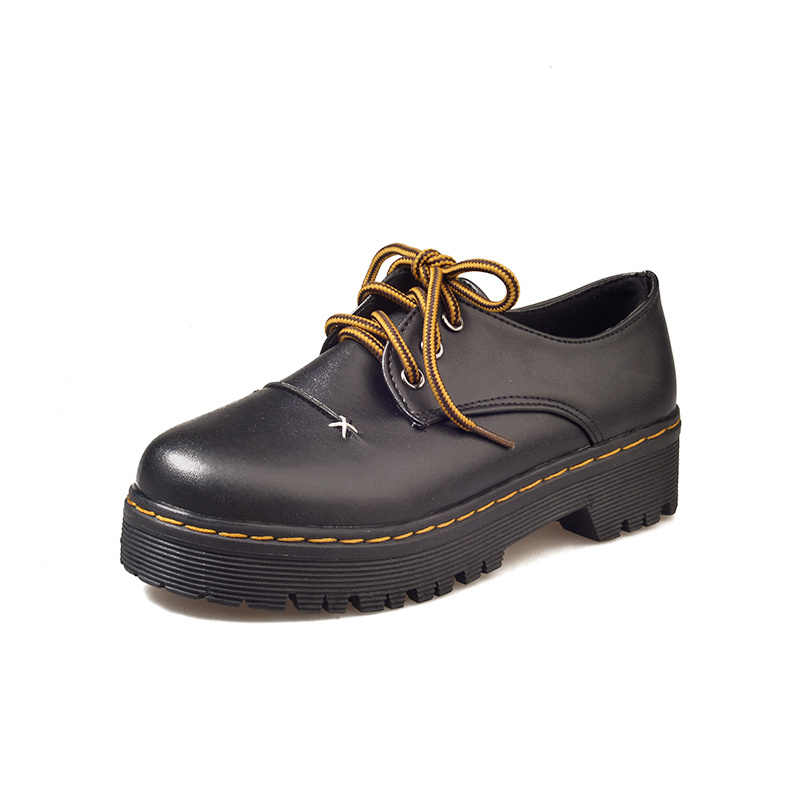 Zapatos Oxford marrones, zapatos de mujer informales con plataforma, vestido de mujer, zapatos de ocio derby brogue, zapatos de estudiante para caminar, estilo japonés