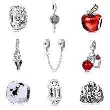 8be24083f593 Nuevo Original chapados en plata de aleación de cuentas de nieve blanco  Mary Poppins Charm Fit collar de la pulsera de Pandora D..