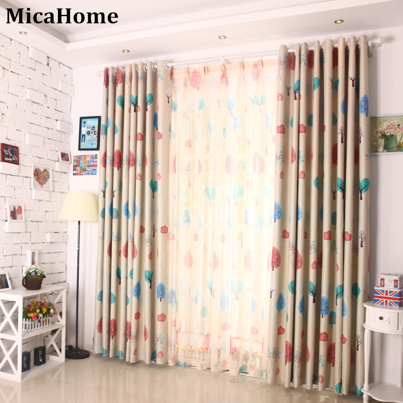 Rustic finished products curtain dodechedron cartoon child real curtain
