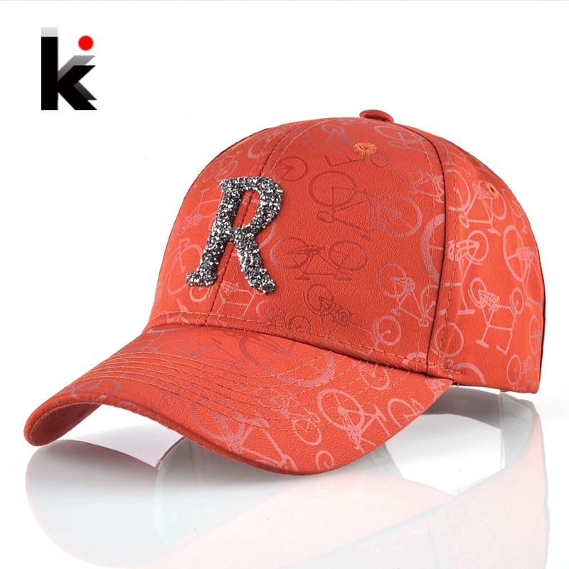 Solid   Baseball     Cap   Men Unisex Snapback   Baseball   Hat Women Rhinestone Letter R Accessories Snapback Hip Hop Bone Kpop Casquette