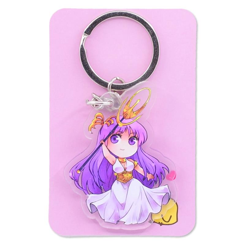 Image 3 - Saint Seiya Keychain Double Sided Cartoon Keyrings Cute Anime Acrylic Pendant Accessories PCB248 253Key Chains   -