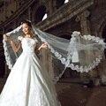 TS1006lace edge long veil bride bridal veils voile mariage veil 2 meter schleier bridal veil ivory velo de novia voile de mariee
