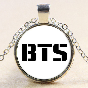 2018 White BTS Album WINGS You Are Never Walk Alone Young Forever Pendant Necklace or Key Chain 25mm Glass Gems Charms YP5214 walk wings