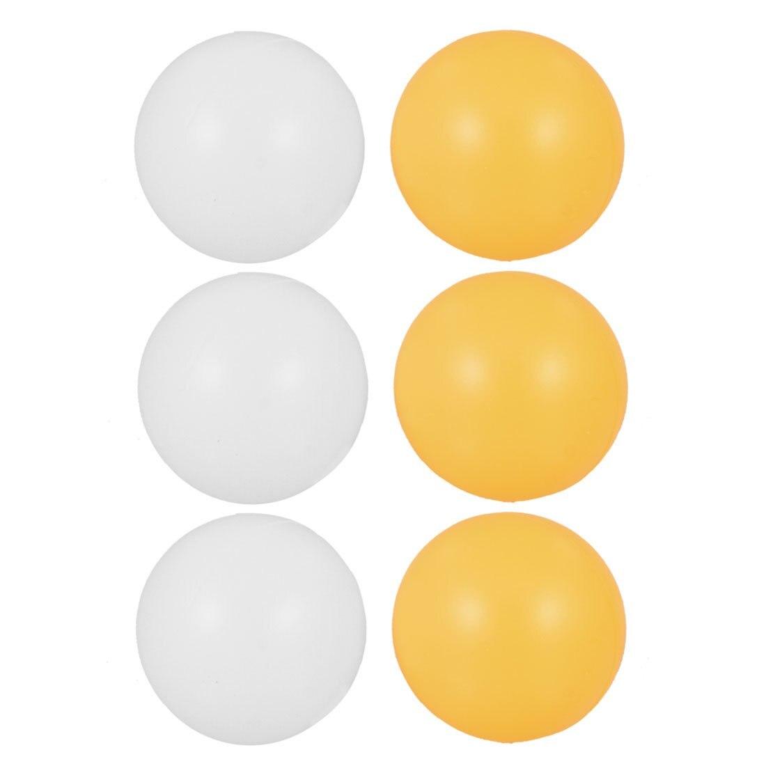 SZ-LGFM-White Orange 39mm Dia Sports Table Tennis Balls Ping Pong Ball 6 Pcs