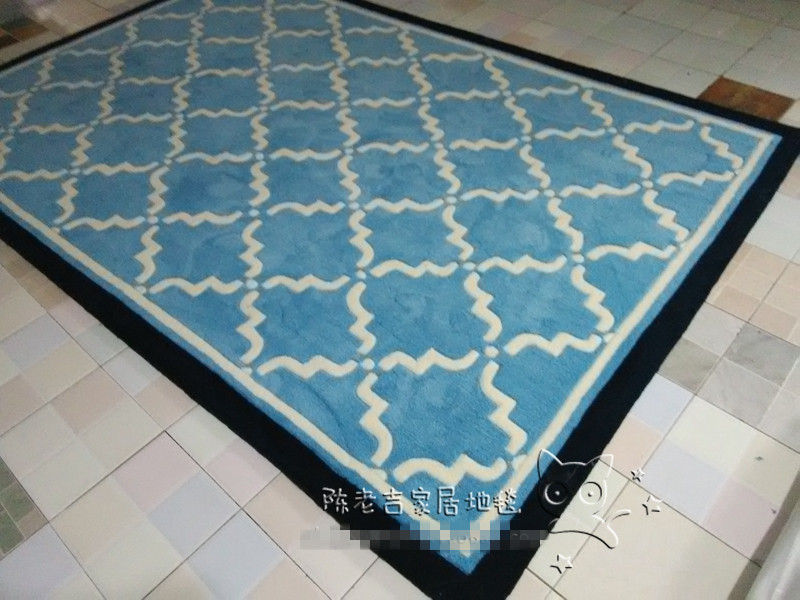 Nouveauté mode/européen/méditerranéen terre/bleu fait main acrylique chambre tapis et tapis Bape tapis/tapis tapis de bain