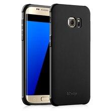Для Samsung Galaxy S6 S7 случае Высокое Качество Ультра-Тонкий Ударопрочный Резиновый Антидетонационных soft Задняя Крышка Для Samsung Galaxy S6/S7 Края