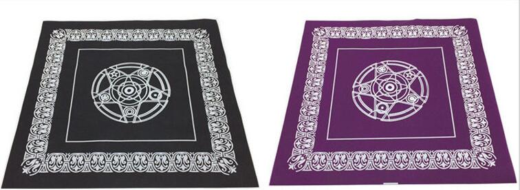 49*49cm pentacle Tarot game tablecloth non-woven material board game textiles tarots table cover playing cards