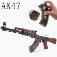 AK47 Electric Bursts Toy Gun Water Bullet Gun Manual Rifle Children Boys Mini Rifle Pistol Outdoor Live CS Games for Kids