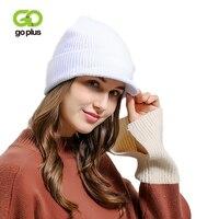 GOPLUS 2019 printemps hiver tricoté visières femmes nouvelle marque de mode chapeau pour fille décontracté bonnets solide coton épais chaud casquettes femme