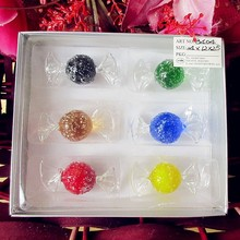 6pcs manufacturers custom wedding candy house Christmas decorations household glass candy model act the role ofing is tasted