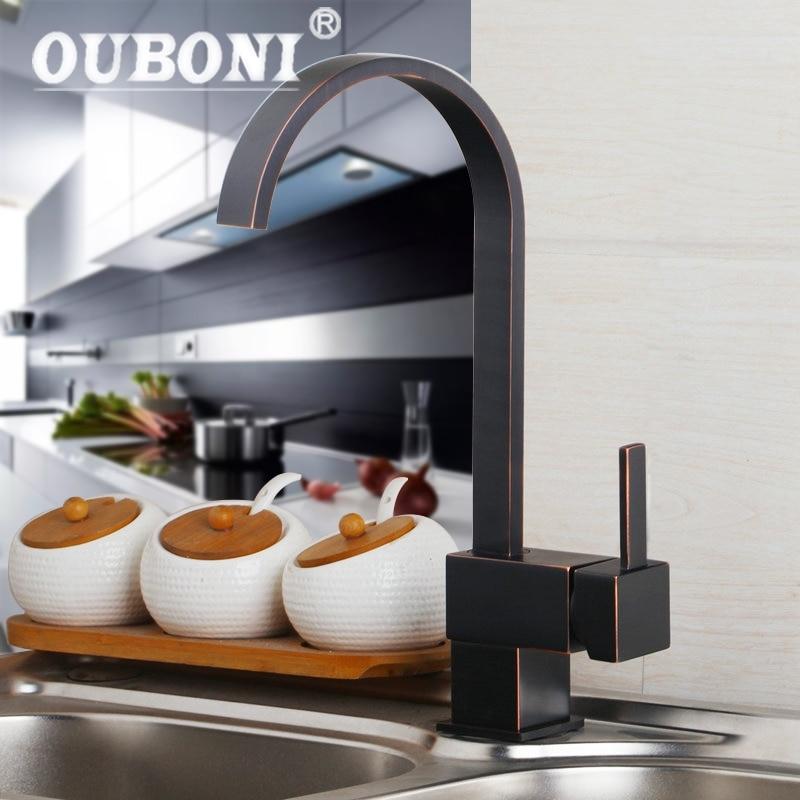 Black Kitchen Faucets Discount: Black Kitchen Faucet Oil Rubbed Bronze Water Swivel Mixer