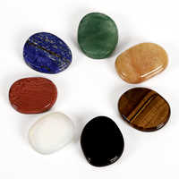7 pieces/lot Natural crystal and mineral quartz Palm stones 28x24x7 mm Tumbled stone Crystal Reiki Quartz Healing Chakra