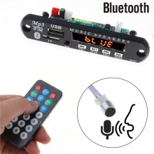 5 в 12 В Bluetooth громкой связи Mp3 плеер FM Радио беспроводной аудио приемник TF USB 3,5 мм AUX автомобильный аудио модификация комплект для динамиков