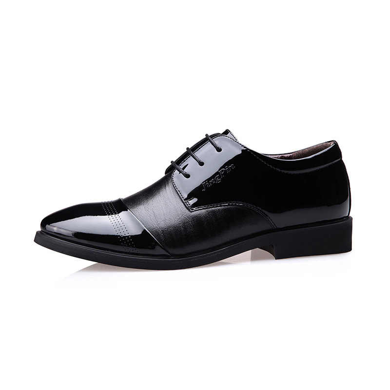 Zuoxiangru Hot Sell Classical Men Dress Shoes Luxury Men's Business Oxfords Casual Shoe Black Brown Leather Derby Shoes