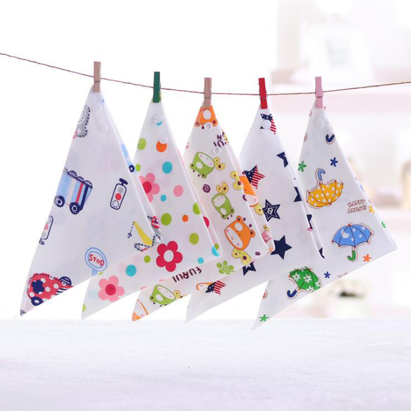 Halilo Baby Bibs Cotton Infant Feeding Towel Bibs Cartoon Newborn Girls And Boys Toddler Triangle Scarf Bandana Cute Burp Cloths ...