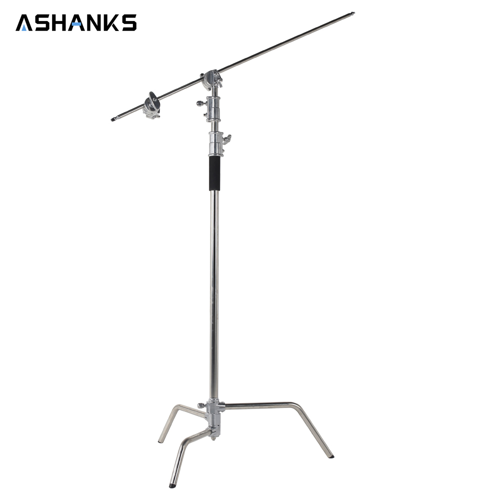 3.2M Heavy Duty Studio Centry C Stand Detachable Light C-stand with Holding Arm and Line Resizer for Flash Strobe Flag Reflector holding the line
