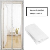 2Pcs Set Durable Anti Mosquito Insect Curtains Magnetic Mesh Net Hands Free Automatic Closing Door Screen