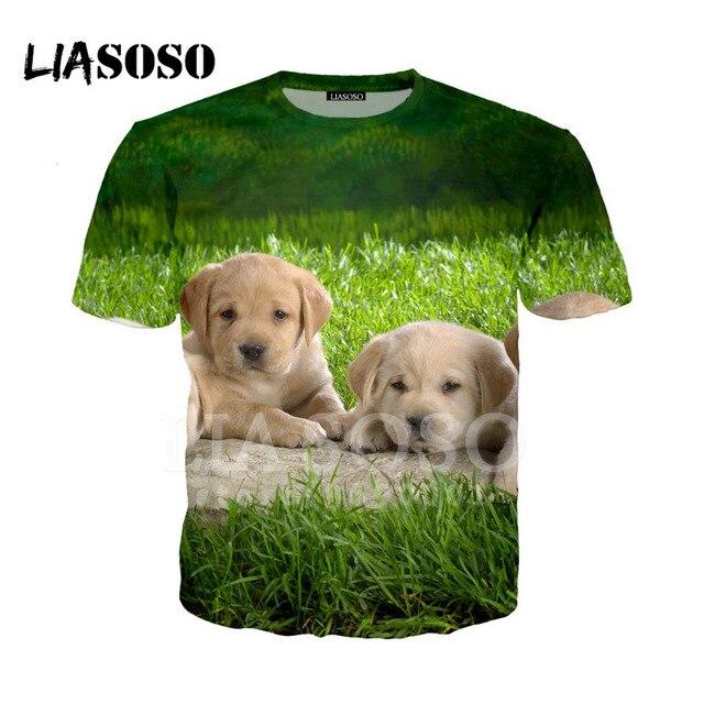 85e0a36dd853 LIASOSO 3D Print Women Men T-shirt Summer t shirt Cute Dogs Puppy Doge  Husky Shiba Inu O Neck Casual T Shirts Good quality A75