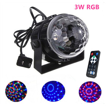 4PCS/lot Stage Lights, 3W Rotating Mini Magic Ball Effect Bar Disco DJ Party  Crystal Magic Ball Lamp Home Decoration 110V220V