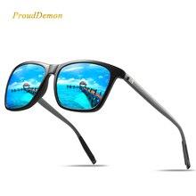 ProudDemon Polarized AluminumTR90 Sunglasses Men Brand Designer Driving Glasses Fashion Women Vintage Sun For UV400