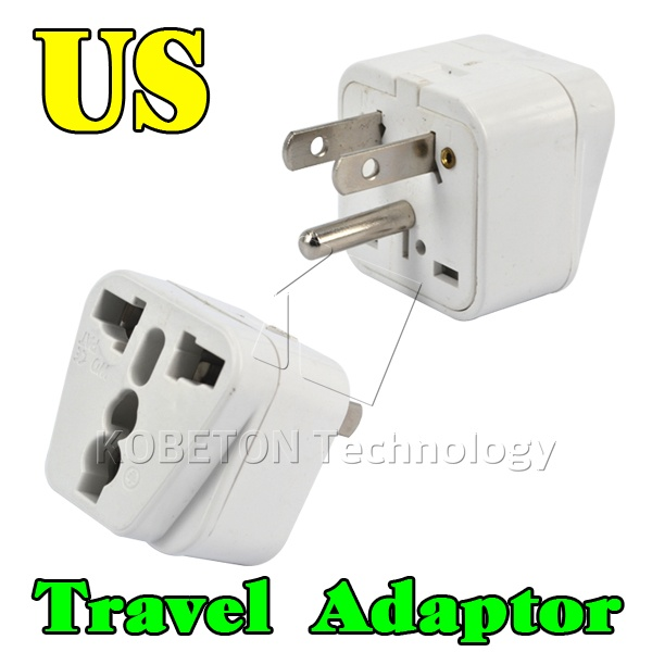 US AU UK EU to US AC Power Plug Adapter Converter Outlet Home Travel Wall BR