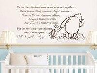 O Envio gratuito de Winnie the Pooh Adesivos de Parede de Vinil Se Alguma Vez Lá é Um Amanhã Citação Decalque Da Parede Do Berçário Do Bebê Adesivos de Parede D460