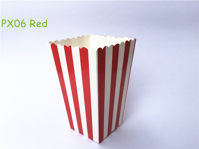 12pcs/lot Mini Red Striped Birthday Party Favor Bags Popcorn Favor Boxes Wedding