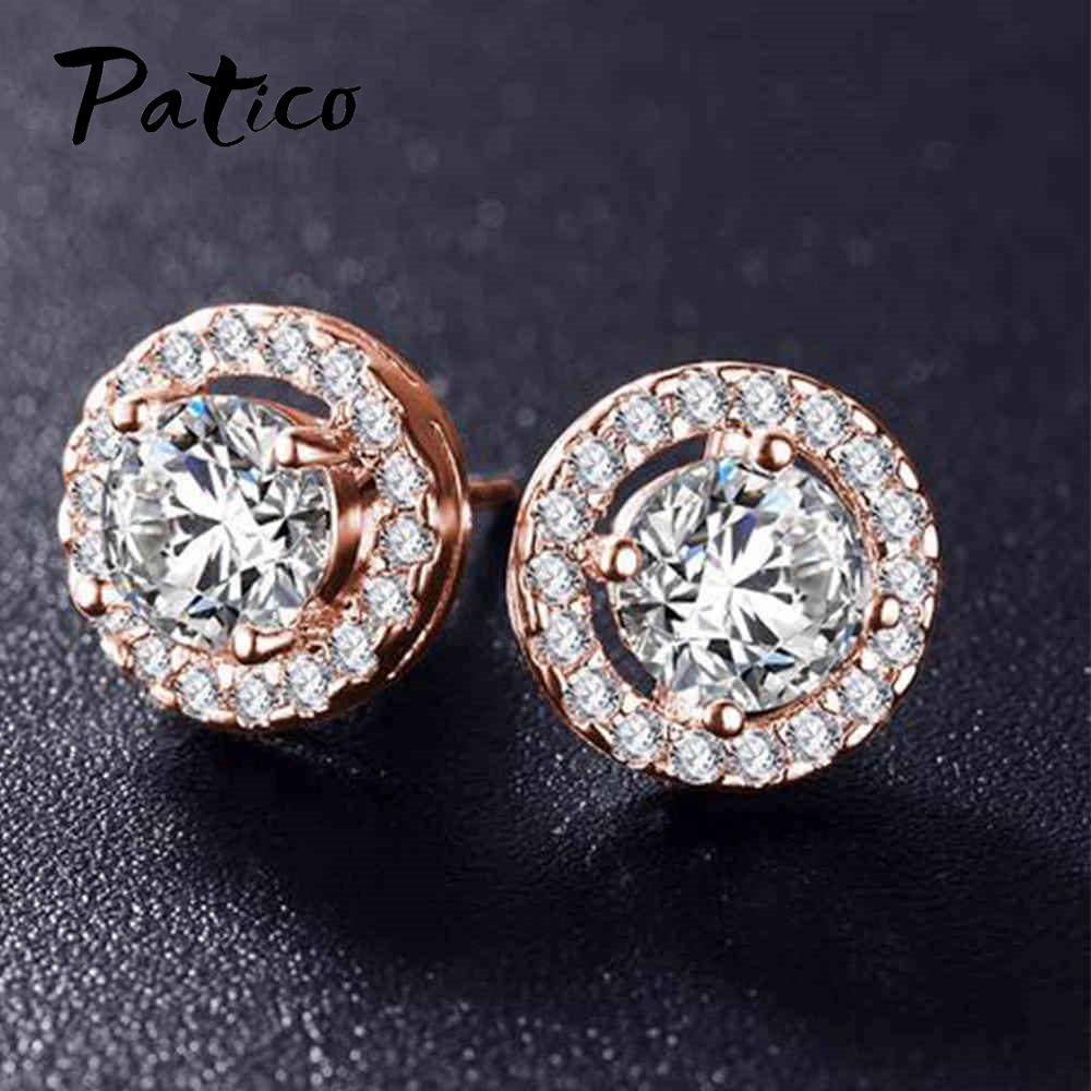 Europe Boucle Foreille Femme Romantic Drop Earrings Cubic Zirconia For Women Party Girls Birthday Earings Jewelry