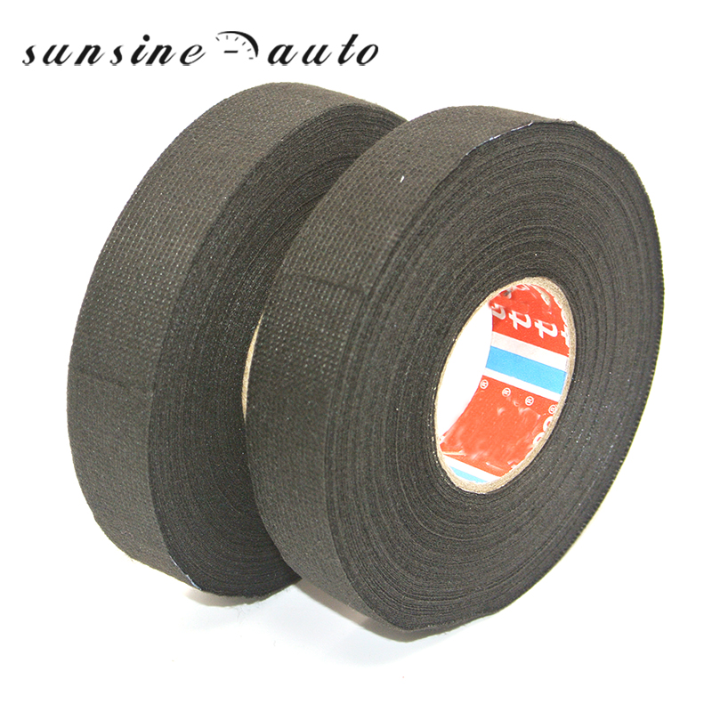 Car Auto Motorcycle Cable Tape 19mm x 25m Adhesive Cloth Fabric Tape Cable Looms Wiring Harness car auto & motorcycle cable tape 19mm x 25m adhesive cloth fabric