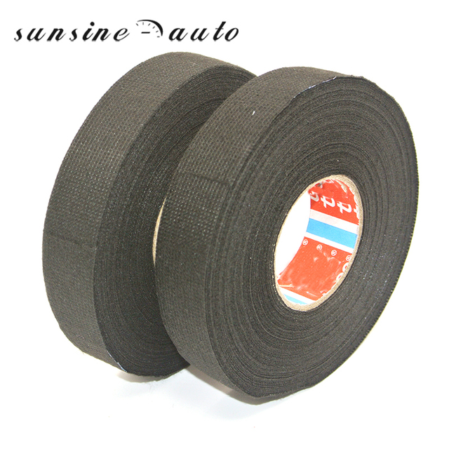 Car Auto & Motorcycle Cable Tape 19mm x 25m Adhesive Cloth Fabric Tape Cable Looms Wiring Harness