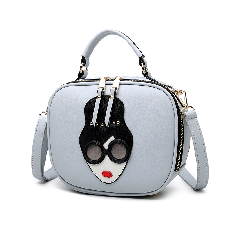 High Quality Women Fashion Handbag Womens Pouch 4 Color Available Girls Hand Bags Cute Cartoon Printing Women Shoulder Bags
