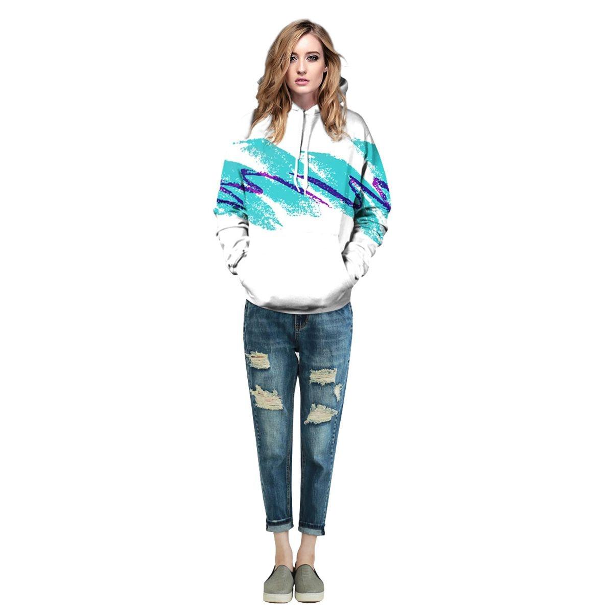 Men/Women New Fashion Watercolor Waves 3d Digital Printing Hoodies Print Hooded Sweatshirts Casual Hoodie Tops