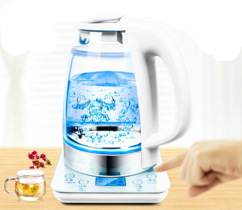 Electric kettle Hot glass electric intelligent thermostat Overheat Protection Safety Auto-Off Function electric kettle with thick glass anti dry protection safety auto off function page 3