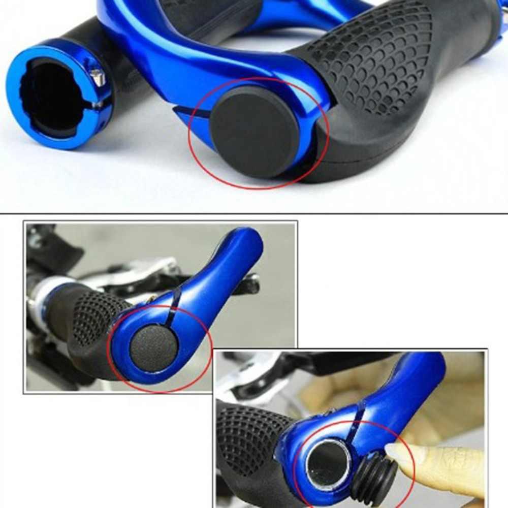 1 par de ciclo de carretera MTB bicicleta de bloqueo en Tapones Bar puños tapas Cubre piezas de bicicleta Mini mango de goma de la barra del manillar final tapones