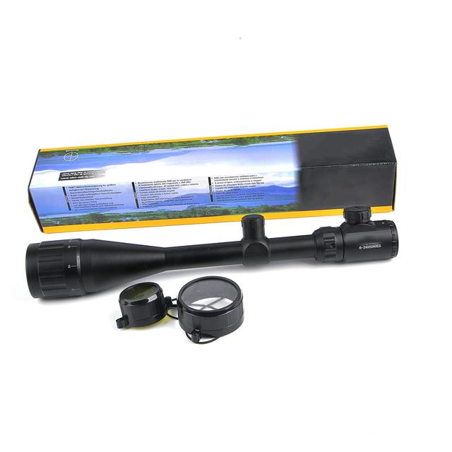 Tactical Riflescope  6-24X50 AOE  Red Green Illuminated Crosshair Rifle Scope  Optical Sight Hunting Scopes