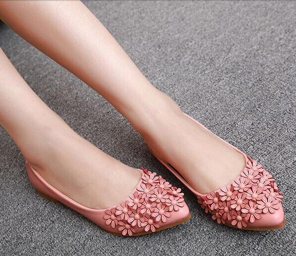 Women shoes flats casual shoes pointed toe soft sole ballet flats sweet pink  flat shoes flats for women casual shoes 593375d73d