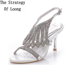 5c36e18dd27d6 Women 2018 Summer New Rhinestone High Heel Cutout Fashion Sandals Rome  Style Sumptuous Big Small Size. 8 Colors Available