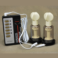2PCS Natural Nipple Enlargement Enhancer Electric Shock Pulse Physiotherapy Massager Firmer Perkier Sex Toys For Couples