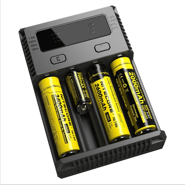<font><b>NITECORE</b></font> NEW <font><b>I4</b></font> INTELLICHARGER 18650 26650 IMR UNIVERSAL MOD BATTERY <font><b>CHARGER</b></font>