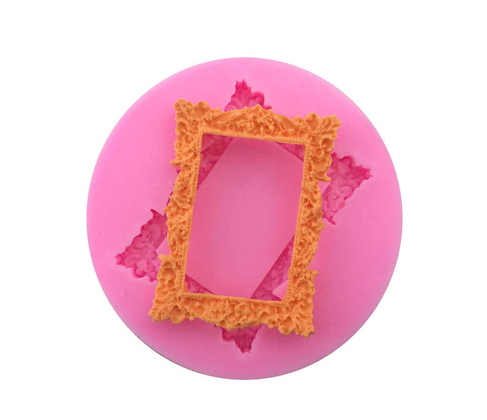 1PCS Frame Silicone Cake Molds, Food Grade Silicone,Chocolate, Cookie , Jelly Mold, Bakeware Decorate E180